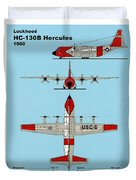 Coast Guard Hc-130 B Hercules Duvet Cover
