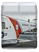 Us Coast Guard Helicopter Duvet Cover