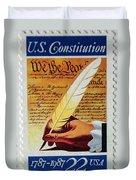 Us Constitution Stamp Duvet Cover