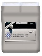 U.s. Customs And Border Protection Duvet Cover by Tikvah's Hope