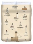 Lighthouses Of The West Coast Duvet Cover