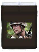 U.s. Marine Calls For Helicopter Duvet Cover