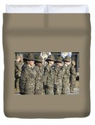 U.s. Marine Corps Female Drill Duvet Cover