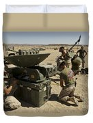 U.s. Marines Assemble A Support Wide Duvet Cover