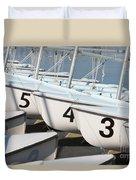 Us Navy Training Sailboats I Duvet Cover