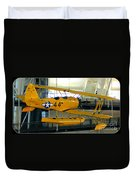 U.s. Navy Yellow Peril Float Biplane Duvet Cover