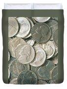 U.s. Nickels Duvet Cover