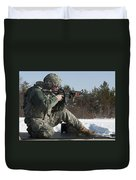 U.s. Soldier Fires His M4a3 Carbine Duvet Cover