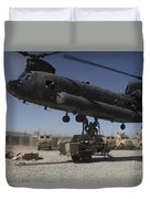 U.s. Soldiers Attach Sling Load Ropes Duvet Cover