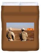 U.s. Soldiers Detonate A Test Explosion Duvet Cover