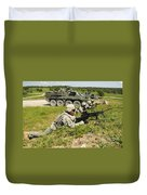 U.s. Soldiers Move Into Firing Duvet Cover