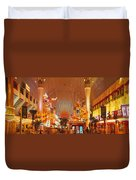 Usa, Nevada, Las Vegas, Night Duvet Cover