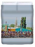 Usa Pro Challenge Bike Race Montrose Colorado Duvet Cover