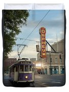 Usa, Tennessee, Vintage Streetcar Duvet Cover