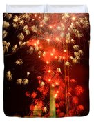 Usa, Washington Dc, Fireworks Duvet Cover