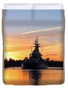 Uss Battleship Duvet Cover