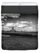 Uss Bowfin-black And White Duvet Cover
