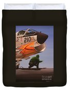 Uss Forrestal Vought Corsair Duvet Cover
