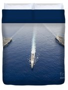 Uss George Washington, Uss Mobile Bay Duvet Cover