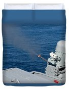 Uss Harry S. Truman Tests The Close-in Duvet Cover