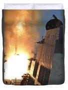 Uss Michael Murphy Fires An Rim-66m Duvet Cover