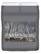 Utah Copper Mine Tailings Pile In Winter Duvet Cover