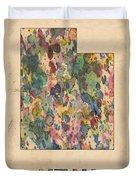 Utah Map Vintage Watercolor Duvet Cover