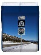 Utah Scenic Highway 12 In Snow Duvet Cover