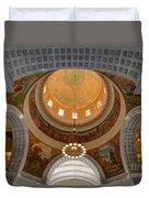 Utah State Capitol Rotunda Interior Archways Duvet Cover by Gary Whitton