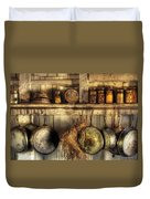 Utensils - Old Country Kitchen Duvet Cover by Mike Savad