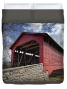 Utica Mills Covered Bridge Duvet Cover