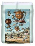 Utopian Flying Machines 19th Century Duvet Cover
