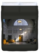 Vacant Railroad Station Duvet Cover