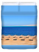 Parasol At Red Sea,egypt Duvet Cover