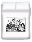 Vaccination Cartoon, C1800 Duvet Cover