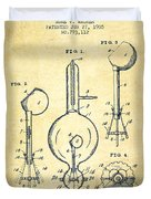 Vacuum Tube Patent From 1905 - Vintage Duvet Cover