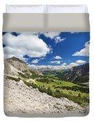 Val Badia From Gardena Pass Duvet Cover