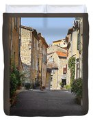 Valbonne - French Village Of Contradictions Duvet Cover by Christine Till