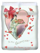 Valentine Card Duvet Cover by English School