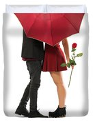 Valentines Couple Duvet Cover by Carlos Caetano