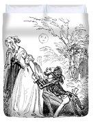 Valentines Day, 1855 Duvet Cover