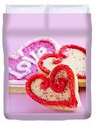 Valentines Hearts Duvet Cover by Elena Elisseeva