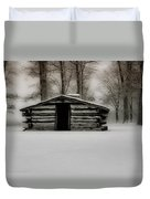 Valley Forge Cabin In Winter Duvet Cover