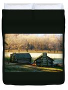 Valley Forge Cabins Duvet Cover