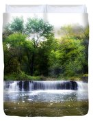 Valley Forge Pa - Valley Creek Waterfall  Duvet Cover