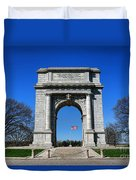 Valley Forge Park Memorial Arch Duvet Cover