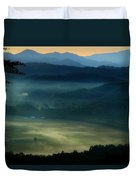 Valley In The Smokies Duvet Cover