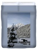 Valley In The Snow Duvet Cover