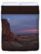 Valley Of Fire Moonrise Duvet Cover