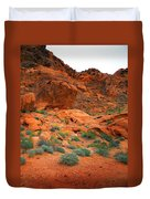 Valley Of Fire Red Sandstone Cliffs Duvet Cover